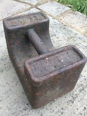 Vintage Rustic Industrial Cast Iron CRANE 56lb Pound Weight Door Stop Avery Type
