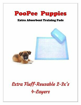 """CHEAP Extra Absorbent Puppy Dog Training Piddle Pee Pads 4-Layer 23x24""""or 23x36"""""""