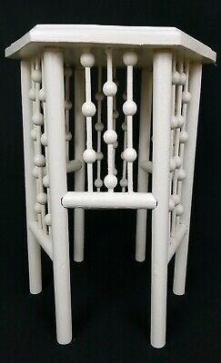 Vintage Victorian stick & ball plant stand accent table antique arts & crafts