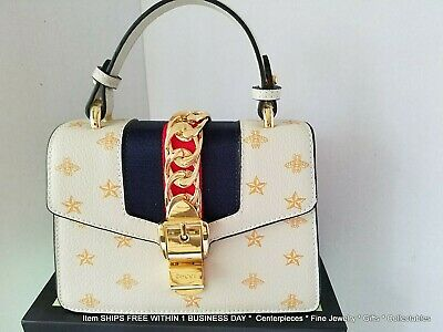 01543eaaa113 NWT GUCCI Sylvie Bee Star Mini Leather Bag with Bag and Box ITALY $2,600