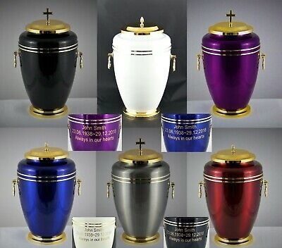 Large Human Casket Adult Urn for Ashes Cremains Memorial Cremation Funeral