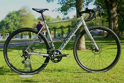2018 Cannondale CAADX Shimano 105 Silver Cyclocross Gravel Road Bike 54cm