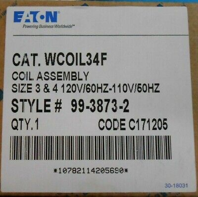 EATON CUTLER HAMMER WCOIL34F Size 3 Size 4 W200 W201 Adv Starter Contactor Coil