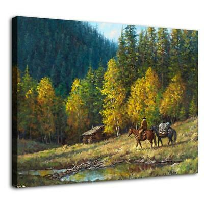 """12""""x16""""Western lodge Paintings HD Print on Canvas Home Decor Wall Art Pictures"""