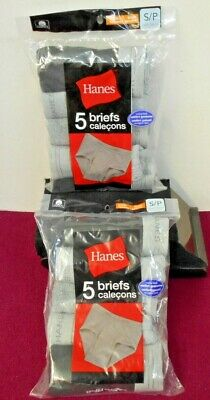 Hanes Boys 5 Pack Briefs Size S/P New With Tags Lot Of Two