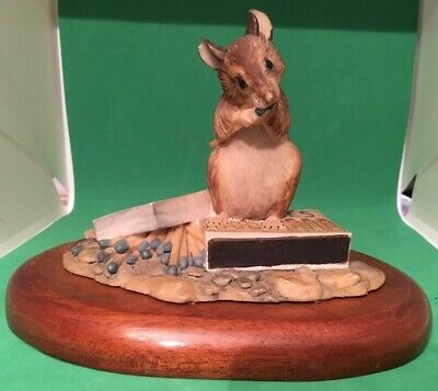Rare Vintage Border Fine Arts Mouse On Blue Matches by Ray Ayres