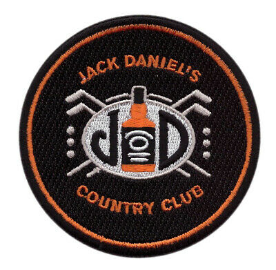 JACK DANIELS Country Club EMBROIDERED SEW / IRON ON PATCH (3 Inch)