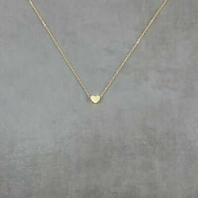 Tiny Heart GOLD Plated Necklace Stylish Simple Charm Pendant Love Peace Gift Box