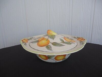 wood & sons england orange grove vegetable tureen serving dish