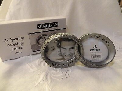 New - Malden Wedding With This Ring Double Wedding Rings Photo Frame - Silver