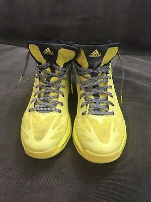 check out 2a7ce 33aea Adidas Sprint Web Adizero Basketball Crazy Light 11.5 Mens Yellow And Navy