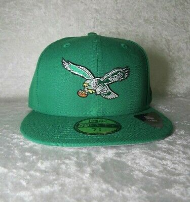 9fe05669537332 NWT Philadelphia Eagles New Era 59Fifty Throwback Logo Fitted Hat Size 7 5/8