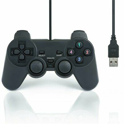 Dual Shock Vibration Wired USB Gamepad Gaming Controller Joystick for PC