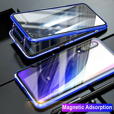 For Redmi Note 7 Pro Xiaomi 9 Case 360° Magnetic Front Rear Tempered Glass Cover