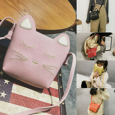 621785f02fb6 Kids Girls Mini Crossbody Bag Suede Leather Handbag Lovely Shoulder Bag  Purse