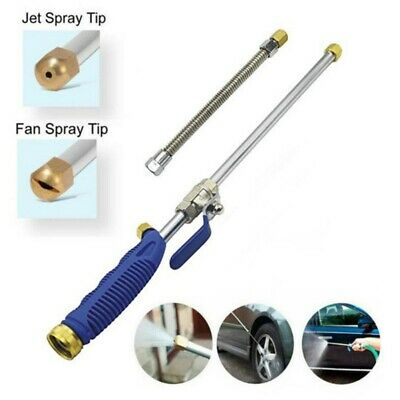 Hydro Jet High Pressure Power Washer Water Spray Gun Nozzle Wand Attachment 2019