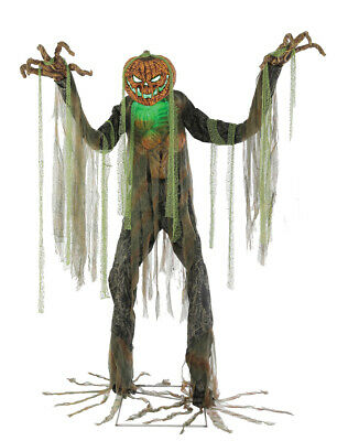 Halloween Life Size Animated Root Of Evil Pumpkin Man Prop Haunted House