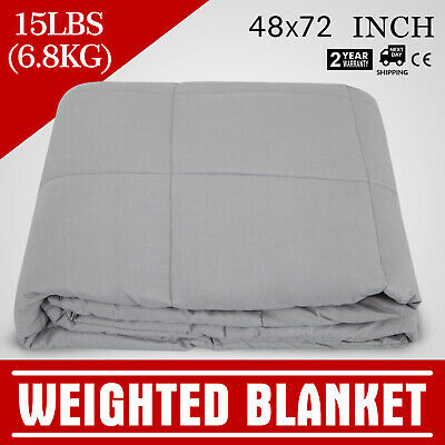 """Heavy Gravity Sensory Weighted Blanket 6.8KG Relieve Anxiety 48x72"""" Odorless"""