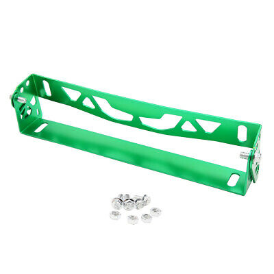 Universal Aluminum Alloy Green Car Bumper License Plate Mount Bracket Holder
