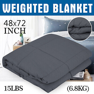 Weighted Blanket Deep Relax Sleeping Gravity For Adult Men Women Soft 6.8KG
