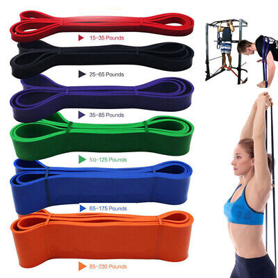Resistance Exercise Bands Tube Home Gym Yoga Fitness Premium Latex Heavy Duty