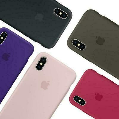 Genuine Original Hard Silicone Case Cover FOR Apple iPhone 6s 7/8 + X/XS Max XR