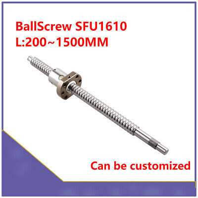 SFU1610 BallScrew Length 200~1500mm Ballscrew End Machined With Ballnut for CNC
