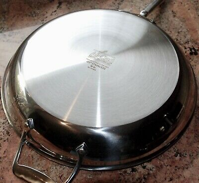 "NEW All-Clad d5 14"" Stainless-Steel Nonstick Fry / Saute Pan First Quality"