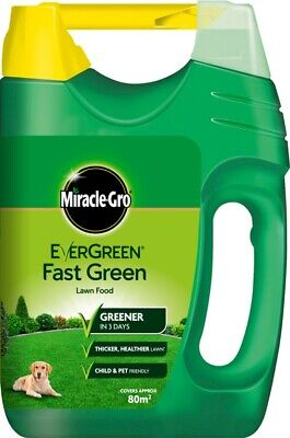 Miracle-Gro EverGreen Fast Green Lawn Food 80m2 Spreader Thicker Healthier Lawn