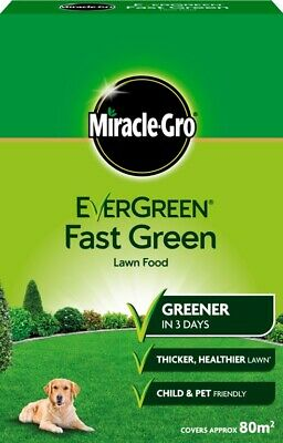Miracle-Gro EverGreen Fast Green Lawn Food 80m2 Box Thicker Healthier Lawn