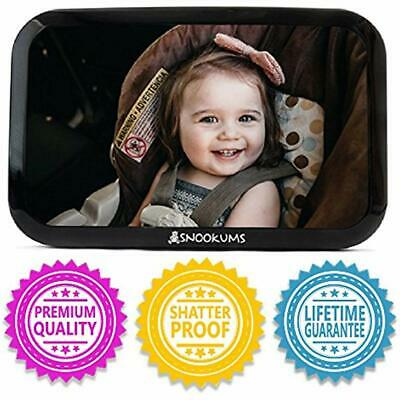 Baby Mirror For Car - Safely Monitor Infant Child In Rear Facing Seat Wide View