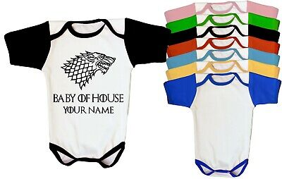 Baby Game Of Thrones Personalized With Name Bodysuit In Different Colors