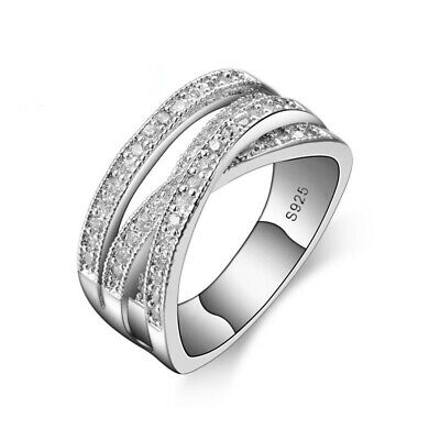 Engagement Ring Wedding Fashion Round Trendy Cubic Zirconia Silver For Women