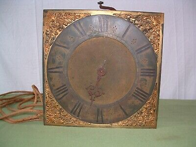 Longcase clock movement  Kemp of Lewis 30hr. birdcage, turned posts original A/F