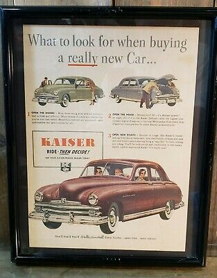 1949 Kaiser 4 Door Sedan Ad WHAT TO LOOK FOR WHEN BUYING A CAR