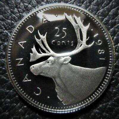 1981 25 Cent Canada Proof - Heavy Cameo - From Mint Set