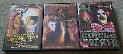 The Devils Backbone, Dollman Demonic Toys Collection & Circus Of Death DVD Lot
