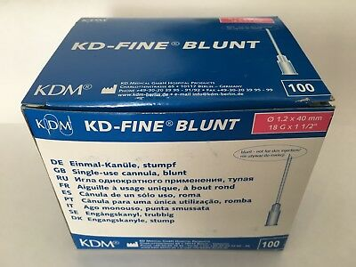Blunt KDM 18G needles KD Fine Sterile Disposable Hypodermic Needle 1.2 X 40 mm