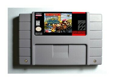 Donkey Kong Country 3 Dixie Kong's Double Trouble! SNES 16-Bit Game