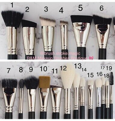 R&M Professional Makeup Brushes - SHOP BY NUMBER - 100% HANDCRAFTED BRUSHES NEW