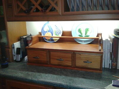 Large Antique pine display unit with drawers