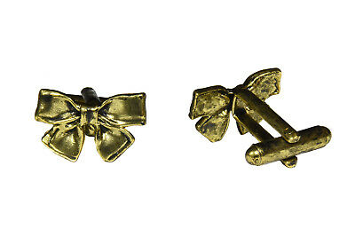 Bow Cufflinks For Men Gold Cool Floral Jewellery Wedding Black Tie Shirt Prom