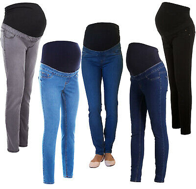 NEW LOOK Skinny Over Bump Maternity Jeggings Pregnancy Stretchy Jeans Sizes 8-18