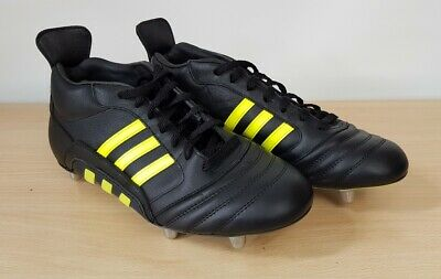 Adidas Mens Mid Wasp Black Leather Rugby Boots UK 7, 7.5, 9, 9.5, 10, 11, 12
