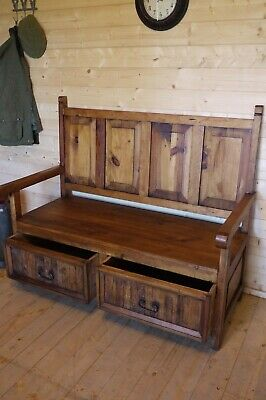 Marvelous Beautiful Wood Monks Bench Church Pew Country Style Uwap Interior Chair Design Uwaporg