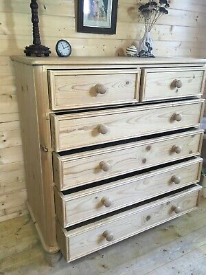 Large farmhouse solid waxed pine dresser cabinet cupboard sideboard larder unit