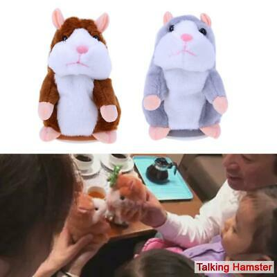 Talking Hamster Mouse Pet  Plush Toy  Cute Speak Sound  Record  Educational Toy