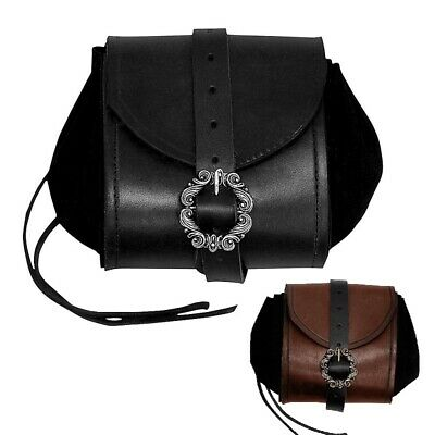 Leather and Suede Merchants Belt Pouch Perfect for Re-enactment & LARP