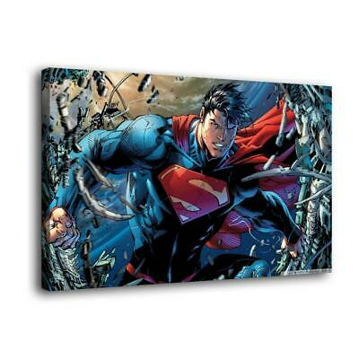 Superman hero HD Canvas prints Painting Home Decor Picture Wall art Poster 12x18