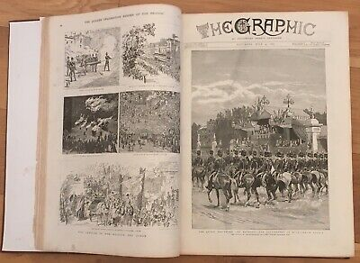 The Graphic & Other Illustrated News Large Bound Volume 800+ pages 1870s 1880s